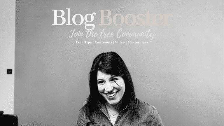 Corso online Blog Booster - Nejua Trentacoste