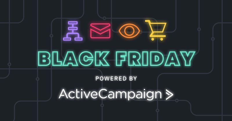 Active Campaign offerta black friday e cyber monday
